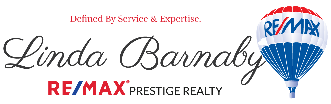 Linda Barnaby with RE/MAX Prestige Realty Logo